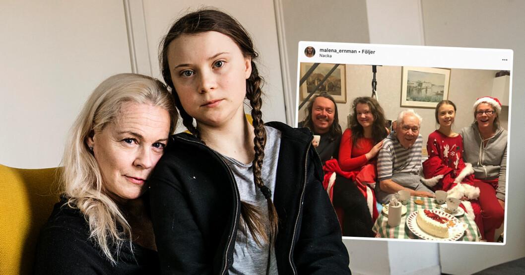 Malena Ernmans familjesorg efter Olof Thunbergs död
