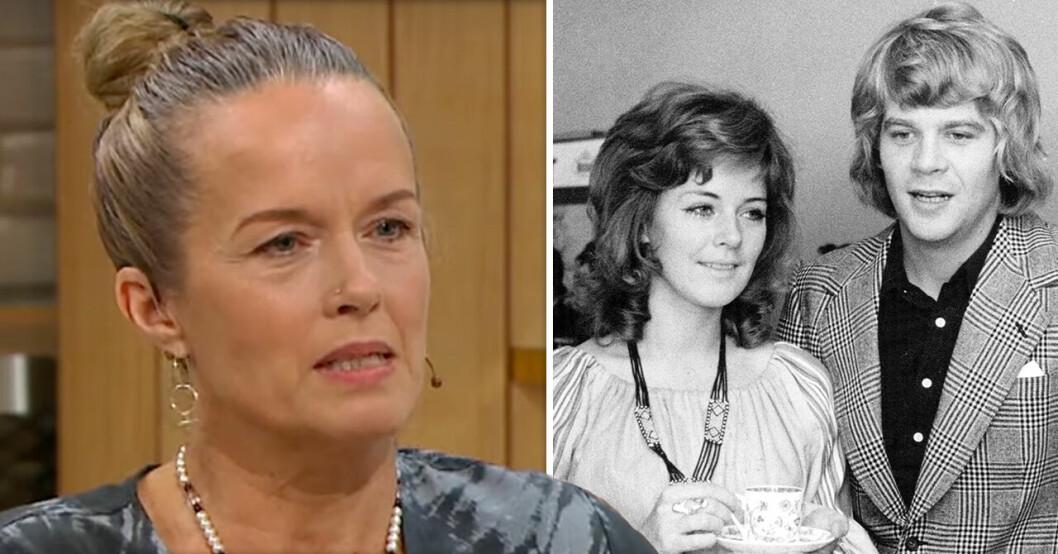 Malin Berghagen, Anni-Frid Lyngstad och Lasse BerghagenS