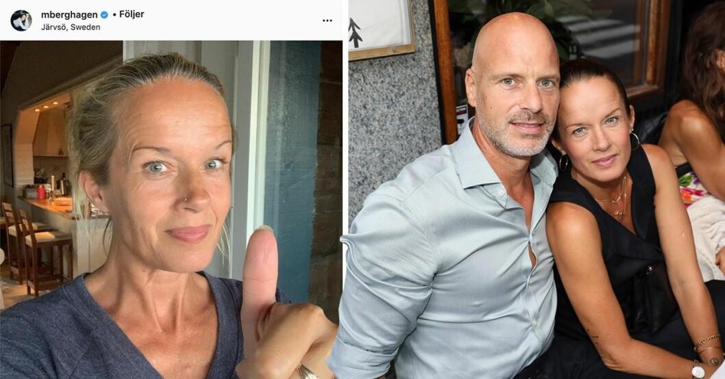 Malin Berghagen och Martin Charlton