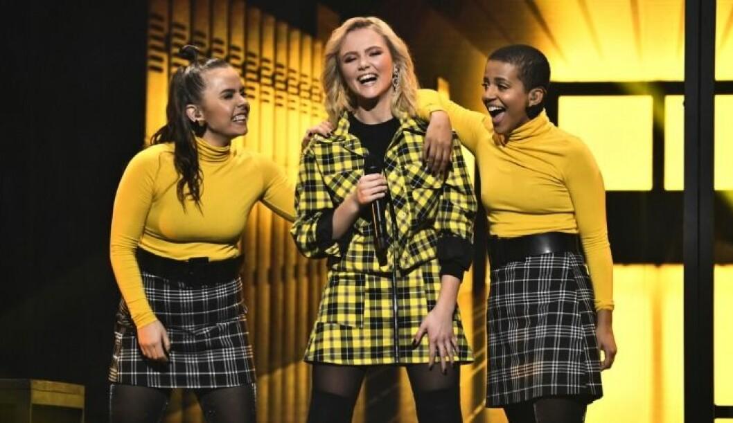 "Malou Prytz uppträder med låten ""I do me"" i Melodifestivalen 2019."