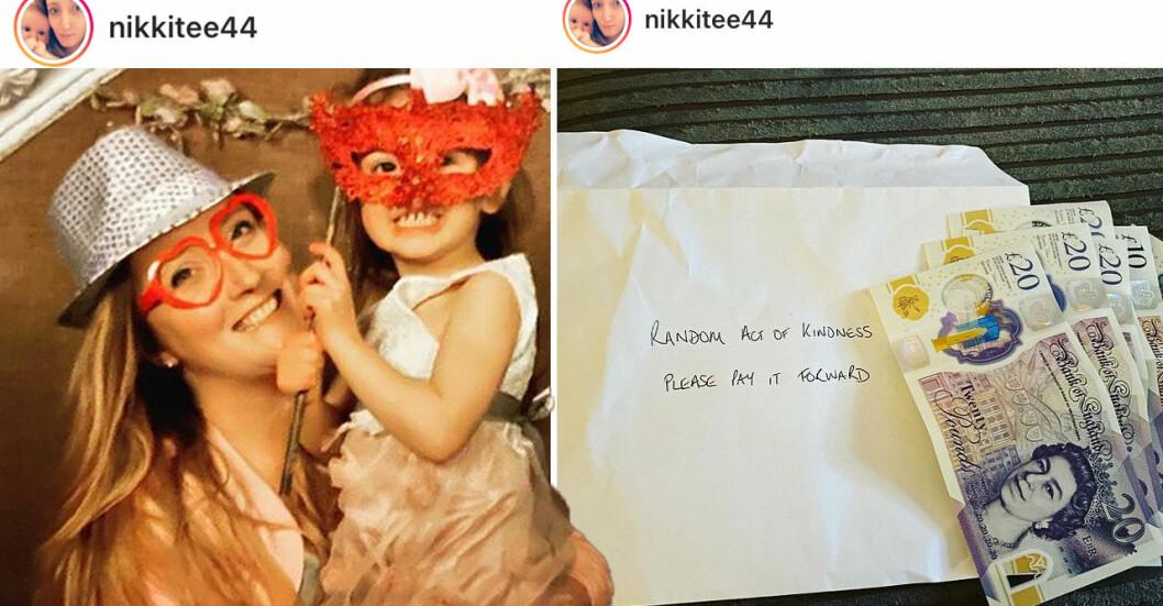 Nicole, 30, är ensamstående med två döttrar. Nyligen fick hon en oväntad gåva från en främling.