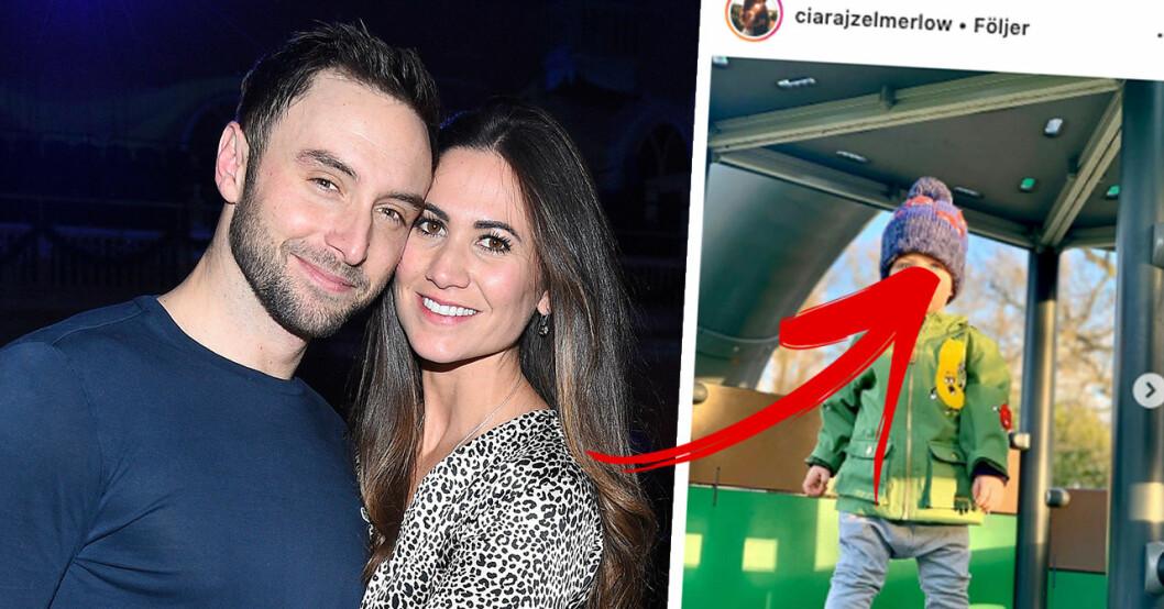 Följarnas chock över bilden på Måns och Ciara Zelmerlöws son Albert