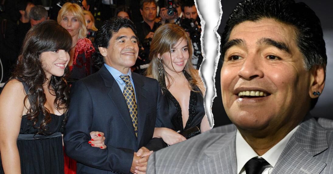 Maradona med sin ex-fru Claudia och döttrarna Dalma och Giannina.