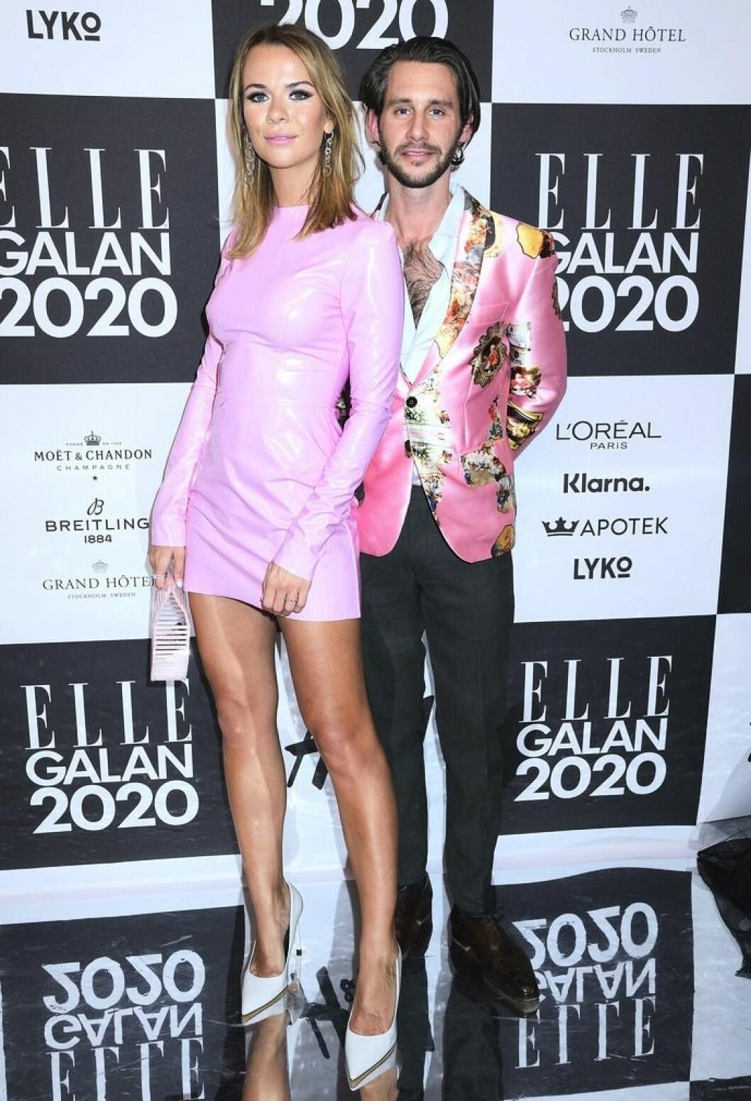 Margaux och Jacob på Elle-galan 2020.