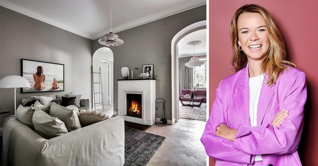 Margaux Dietz ska sälja sin lägenhet på Sveavägen i Stockholm.