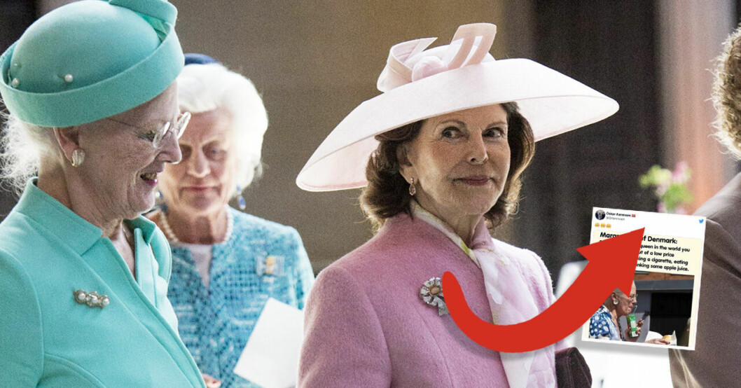 Drottning Margrethe & drottning Silvia