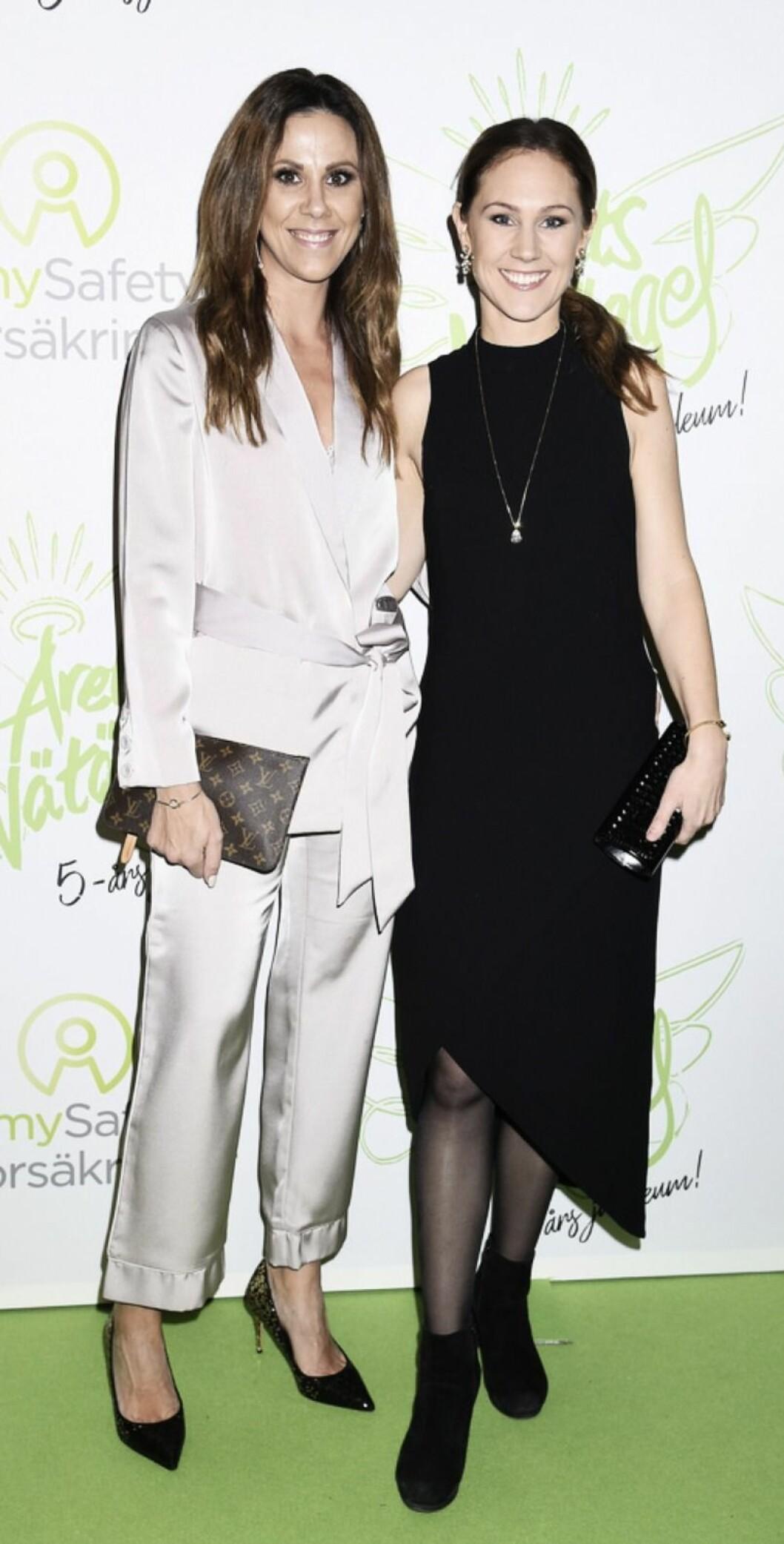 Sofia Getie och Maria Forsblom på röda mattan 2019