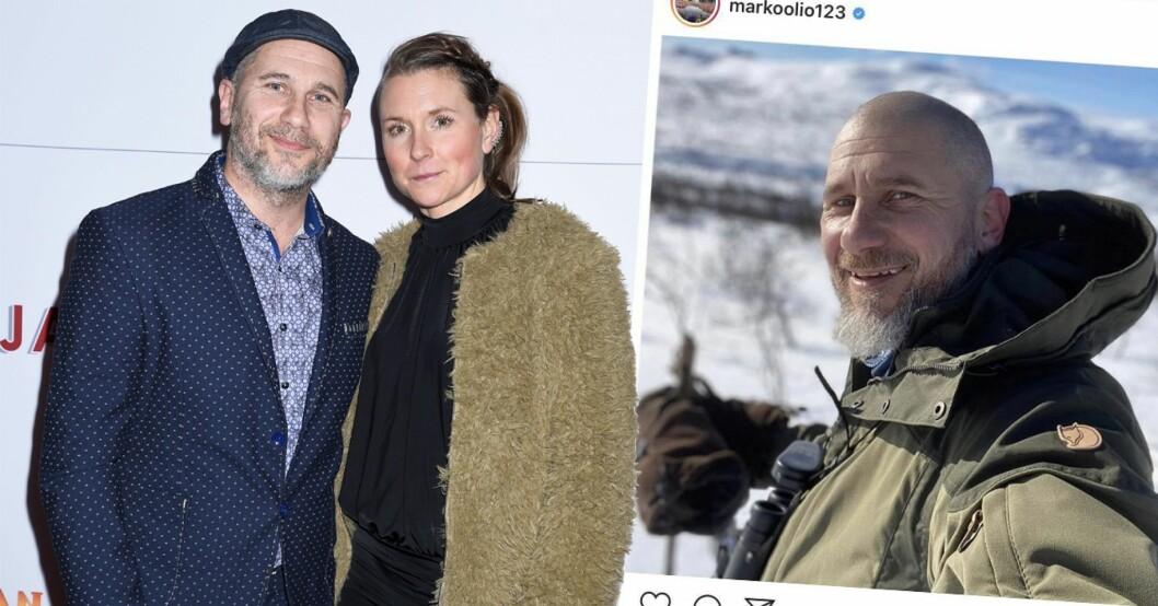 Markoolio och Jessica Westergård på röda mattan.