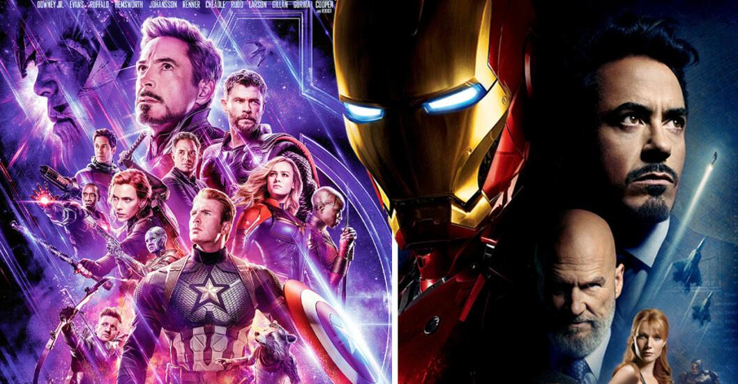 Avengers och Iron Man omslag