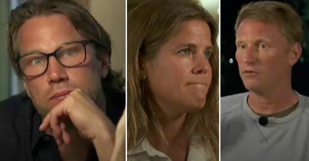 Peter Forsberg, Pernilla Wiberg och Kennet Andersson i Mästarnas mästare på SVT.