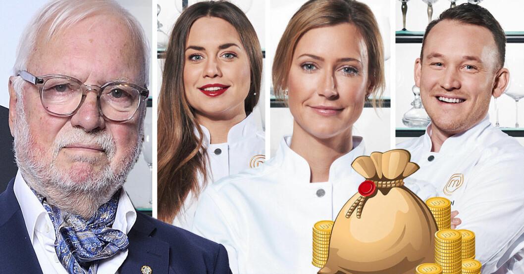 Leif Mannerström, Sofia Henriksson, Catarina König och Gabriel Jonsson i Decenniets mästerkock.