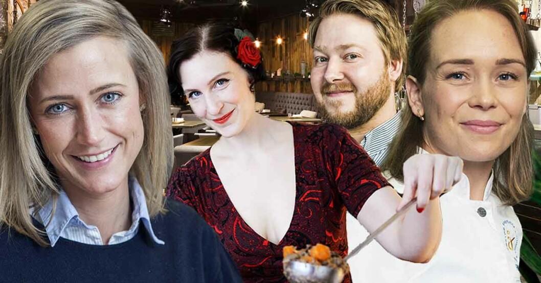 Catarina König, Sigrid Bárány, Erik Hammar och Louise Johansson från Sveriges mästerkock