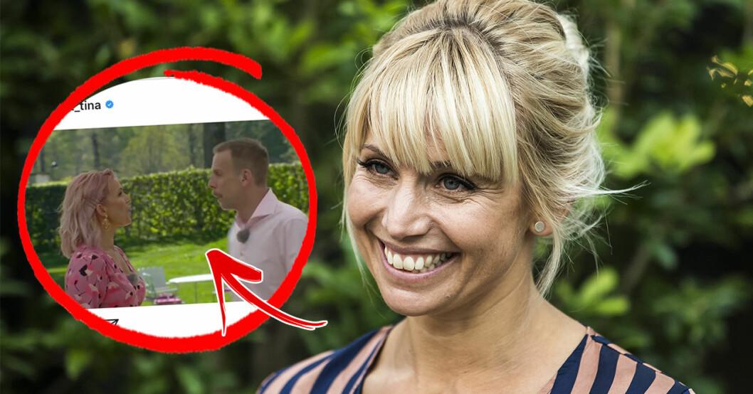 Tina Nordströms utseendeförändring – avslöjas under TV4-inspelningen