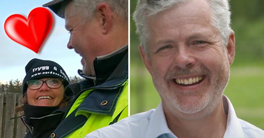 Mats Thomsson i Bonde söker fru med nya flickvännen Marita.
