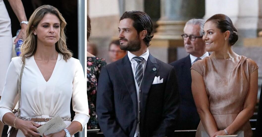 Prinsessan Madeleine, prins Carl Philip och kronprinsessan Victoria