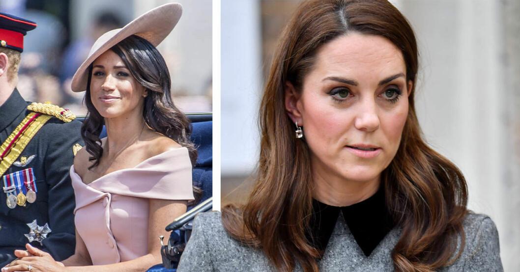 Meghan och Kate Middleton i utsläppt hår