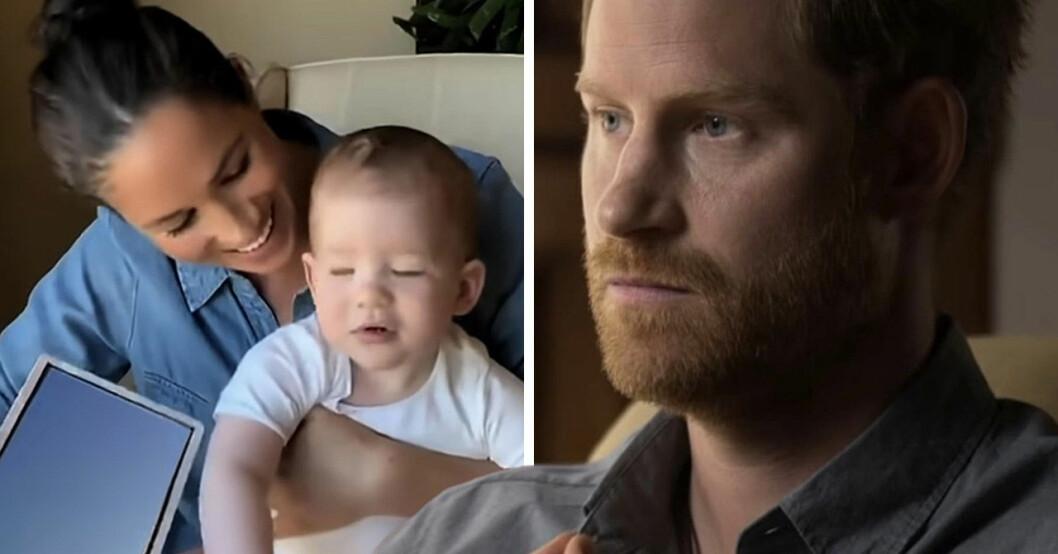 Meghan Markle, prins Harry och sonen Archie.