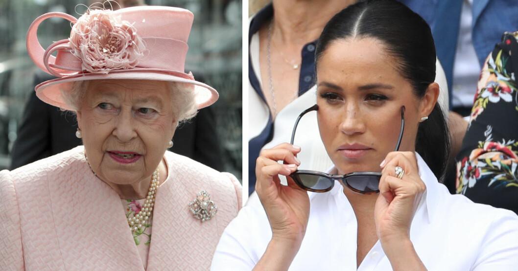 Meghan Markle förkrossad efter drottning Elizabeths förbud mot hundar i Buckingham palace.