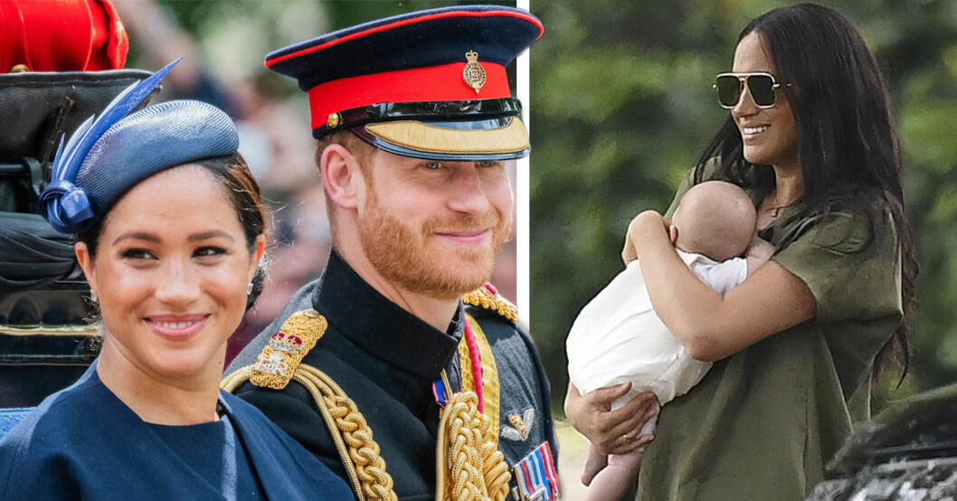 Meghan Markle och prins Harry har tagit med sin son Archie på hans första semesterresa
