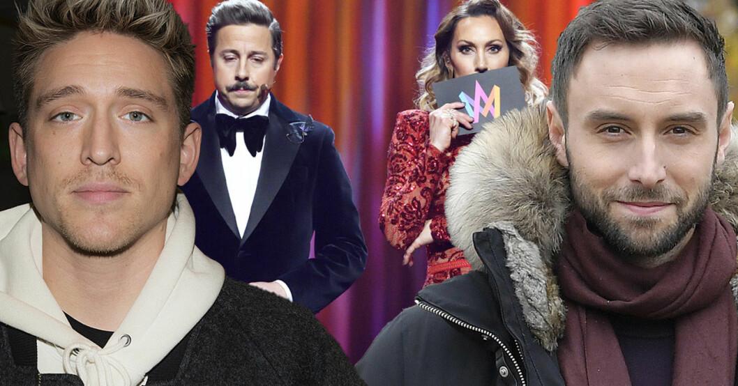 Danny Saucedo, David Sundin, Lina Hedlund och Måns Zelmerlöw har alla varit programledare i Melodifestivalen.