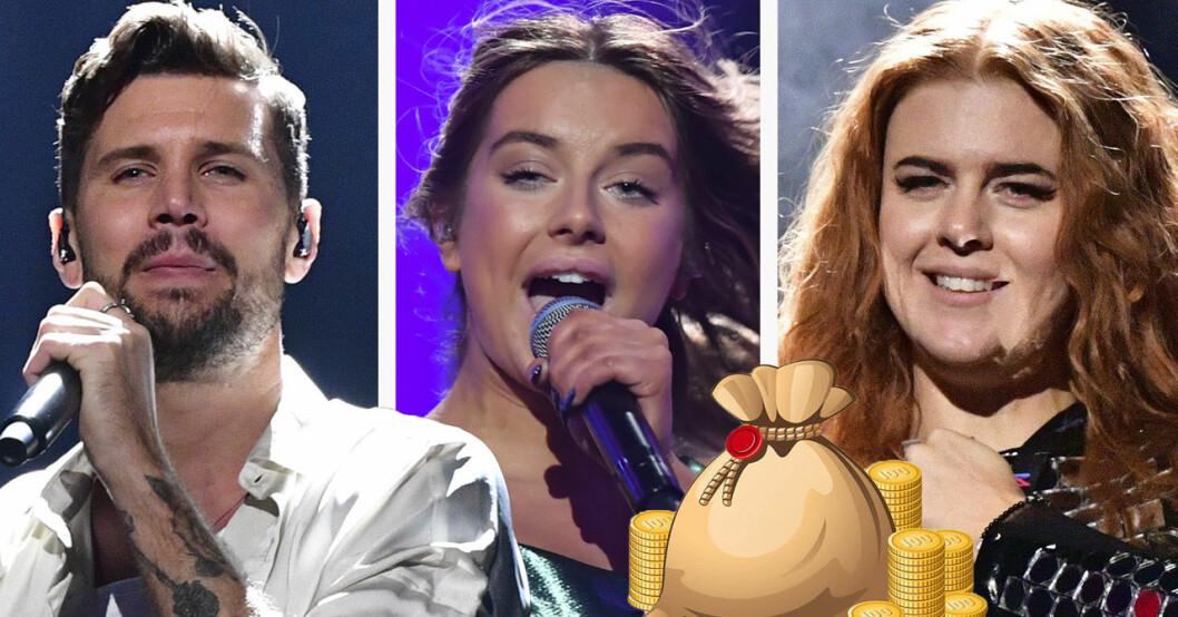 Robin Bengtsson, Hanna Ferm och Johanna Dotter Jansson i Melodifestivalen 2020.