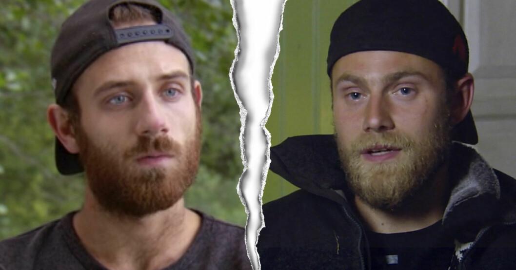 Mergim Qoqaj och Jens Rönnqvist i Farmen 2020.
