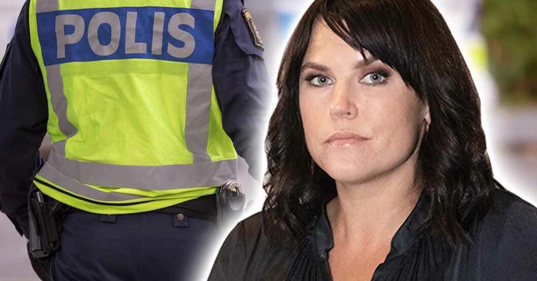 Mia Skäringer berättar om när hon blev konfronterad av polisen.