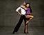 Pressbild på Michel Tornéus och proffsdansaren Jasmine Takács inför Let's dance 2021