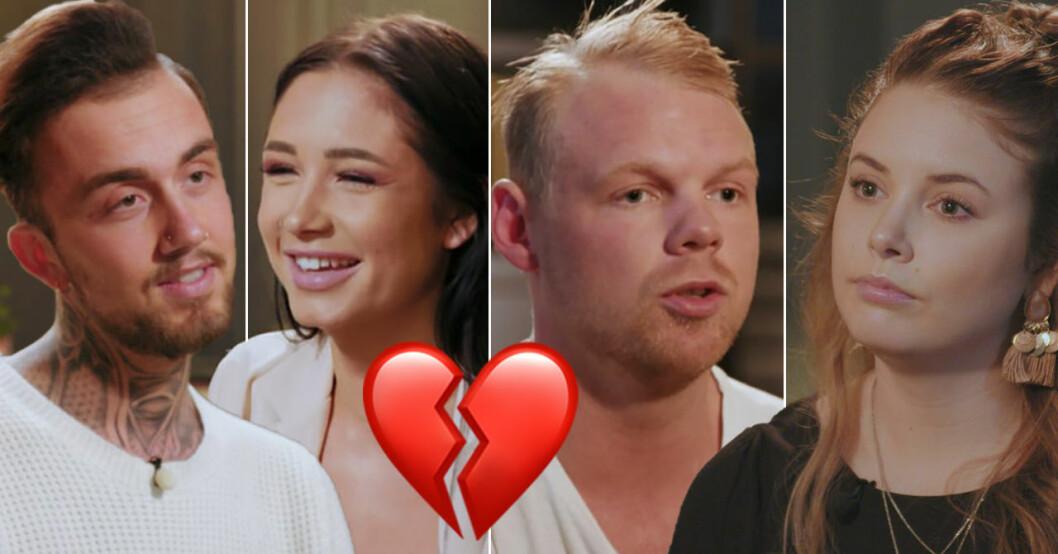 Wictor Djärv, Elin Skog, Louis Bürgi och Emma Boswell deltog i Middag med mitt ex i TV3.