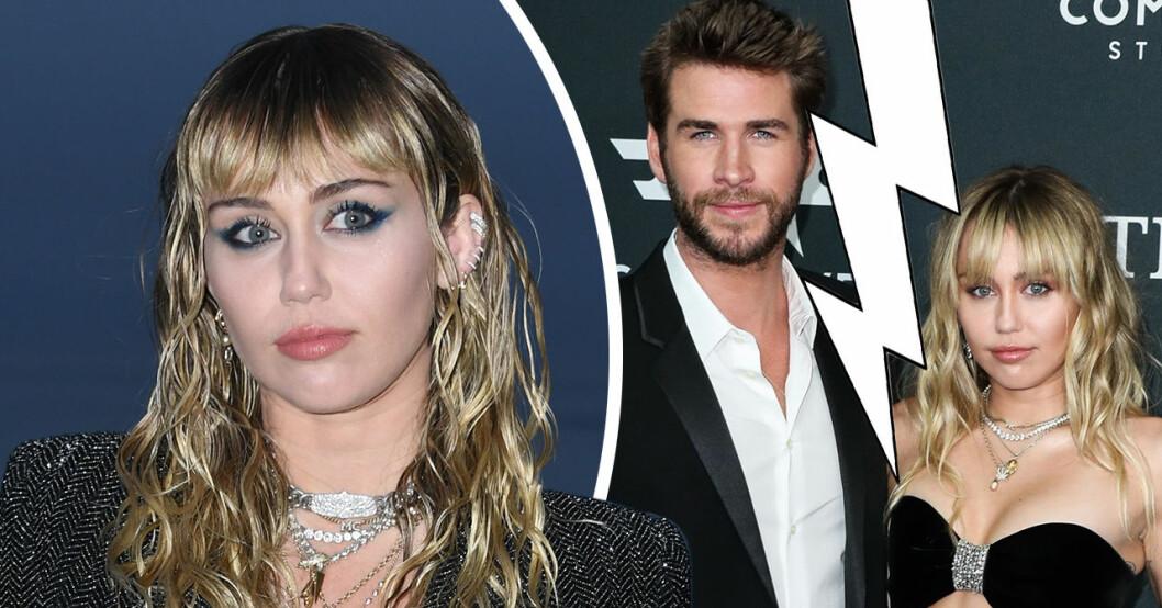 Miley Cyrus bryter tystnaden efter uppbrottet från Liam Hemsworth.