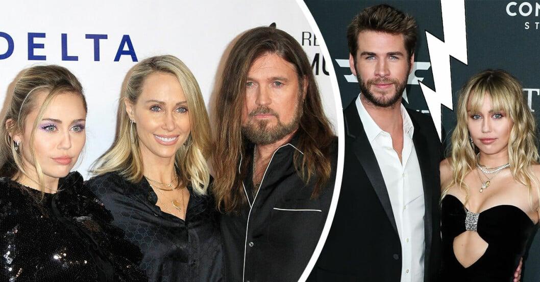 Familjens ord efter Miley Cyrus och Liam Hemsworths separation