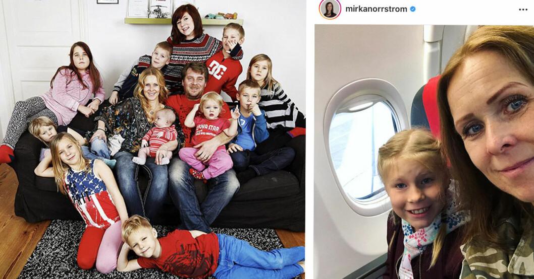 Trettonbarnsmamman Mirka Norrström sätter stopp efter följarnas ord