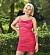 Moa Björn i rosa klänning Bachelor 2021