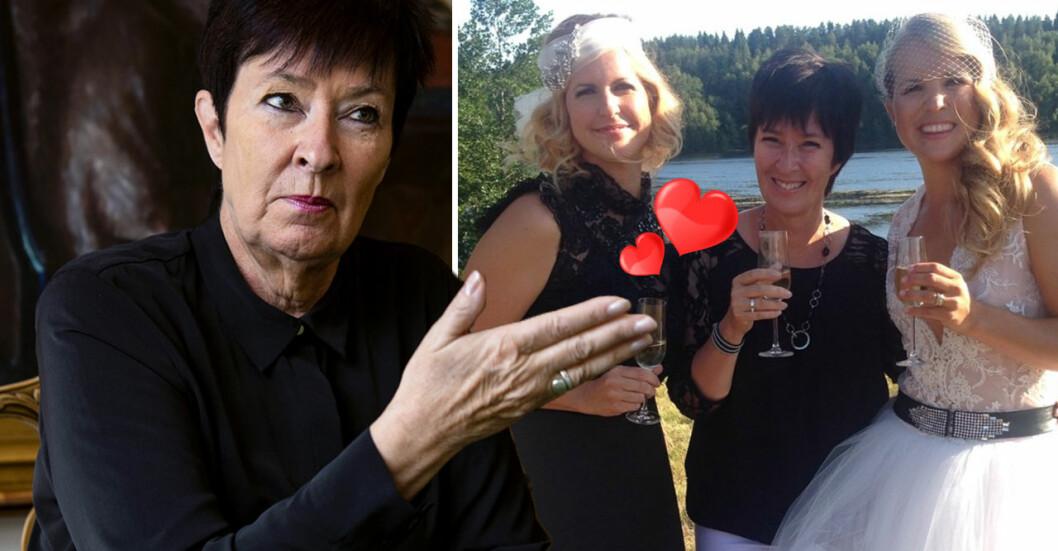 Mona Sahlin vigde Filippa Rådin och Anja Pärson 2014.