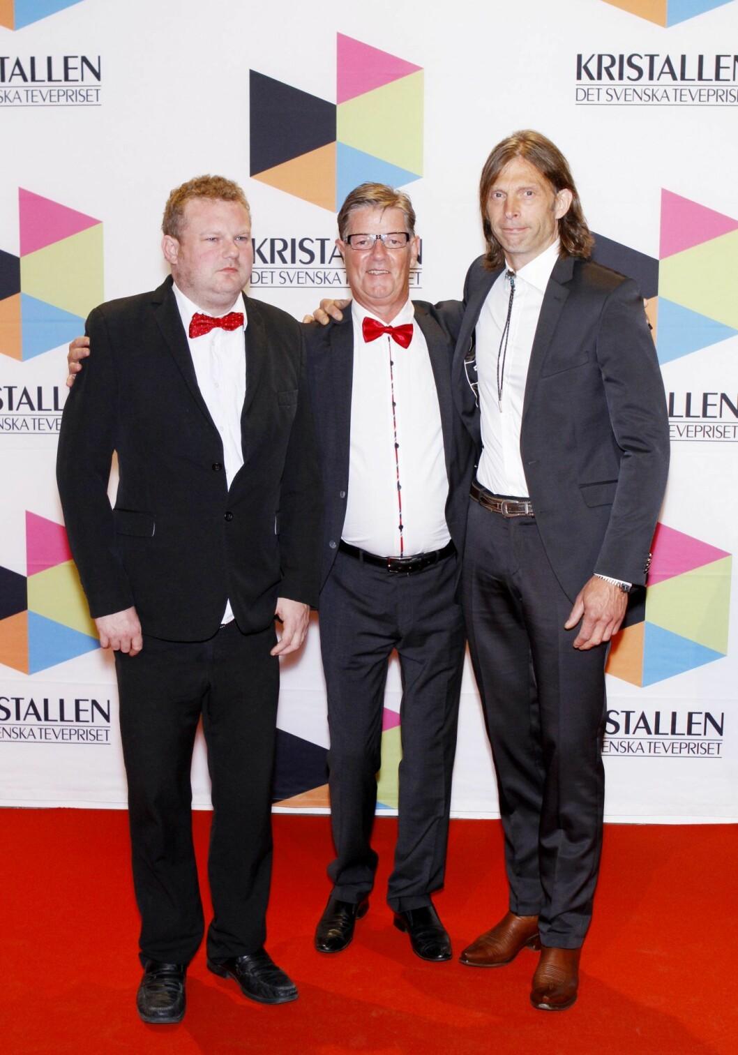 Morgan Karlsson, Ola-Conny Wallgren och Boris Lennerhov från Ullared går på röda mattan