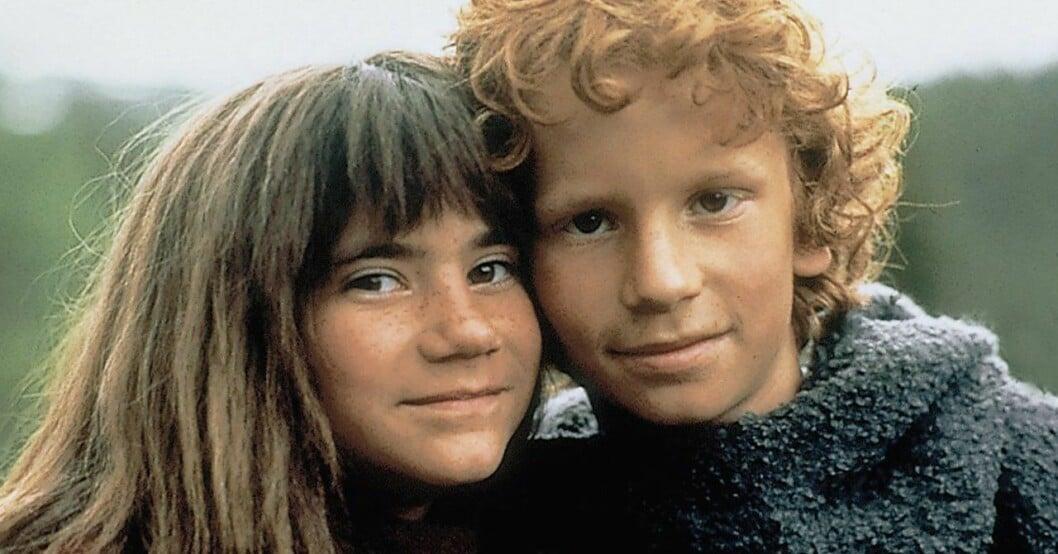 Ronja och Birk i Filmen Ronja Rövardotter från 1984.
