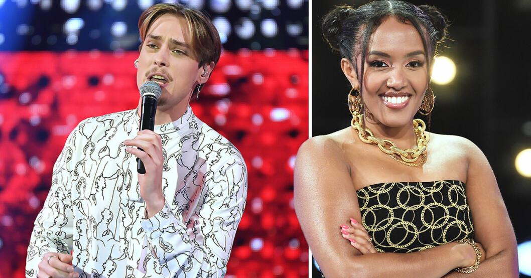Nadja Holm och Simon Karlsson i Idol 2020