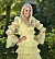 Nathalie Mellgren i gul klänning i Bachelor 2021