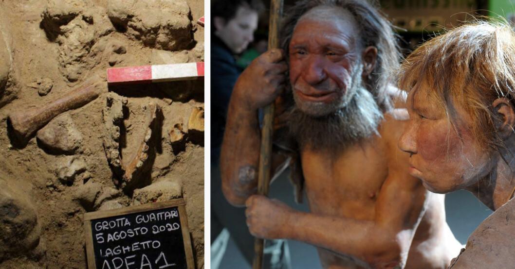 Neandertalare har hittats i Italien