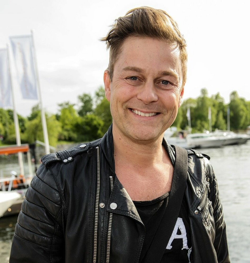 Niclas Wahlgren på säsongsinvigning av Strandbryggan 2016.