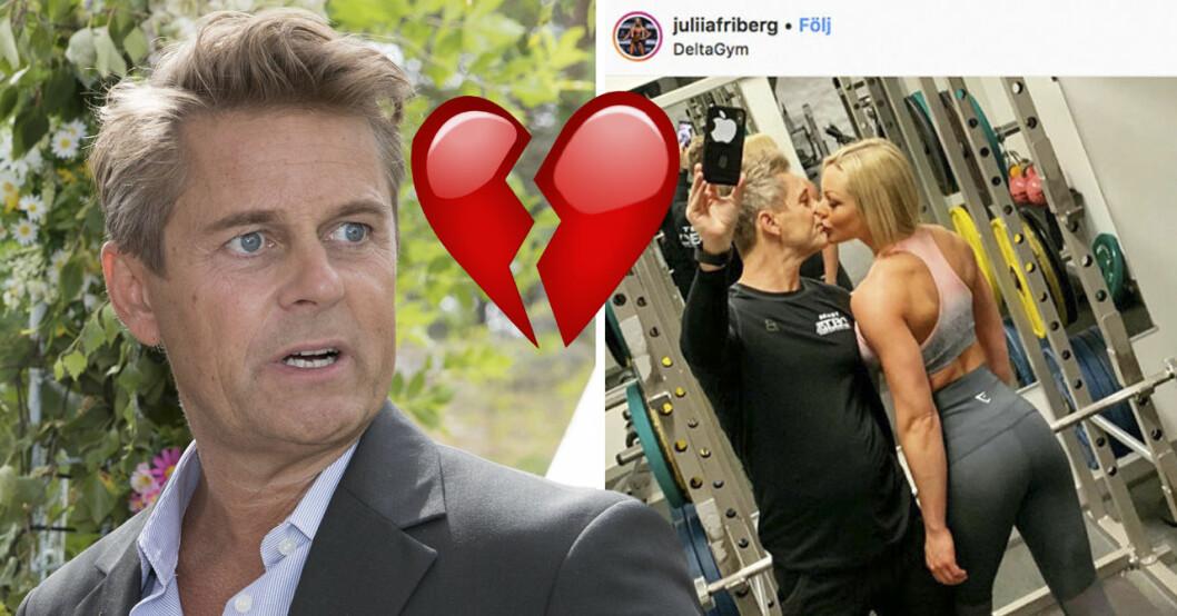Niclas Wahlgren och Julia Friberg har gjort slut