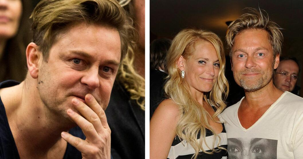 Niclas Wahlgren och Laila Bagge delar på vårdnaden om sonen Kit