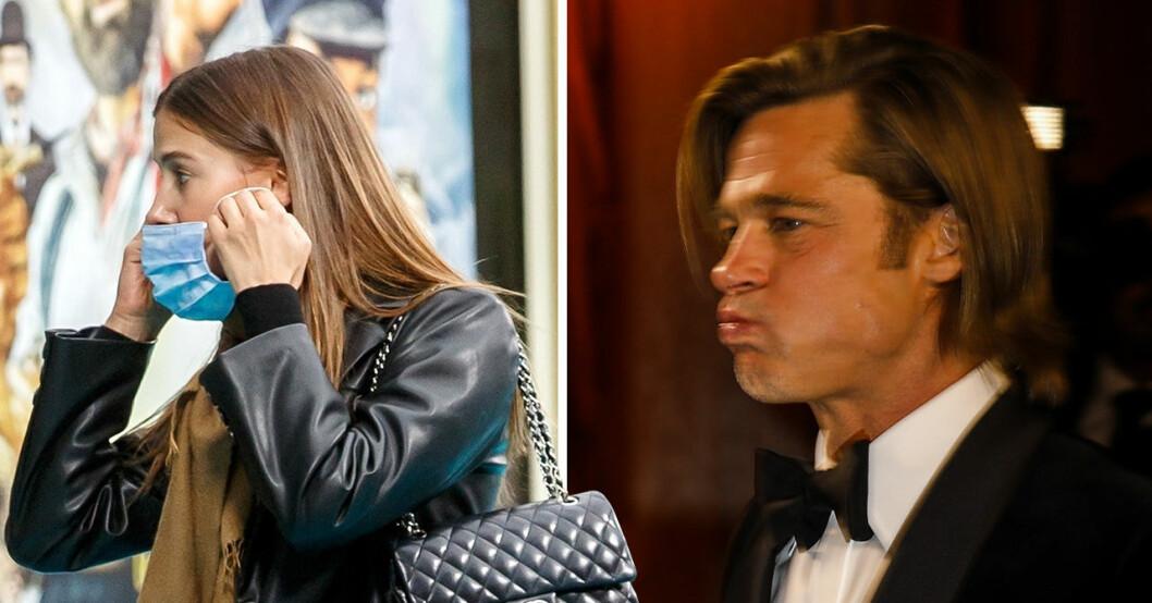 Nicole Poturalski och Brad Pitt.