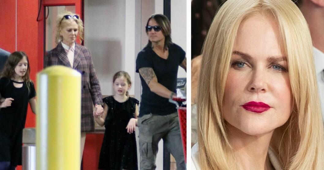 Nicole Kidman, Keith Urban och döttrarna Faith och Sunday