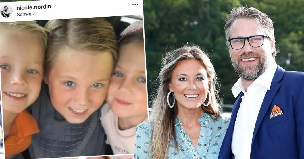 PEter Forsberg, Nicole Nordin och dottern Lily