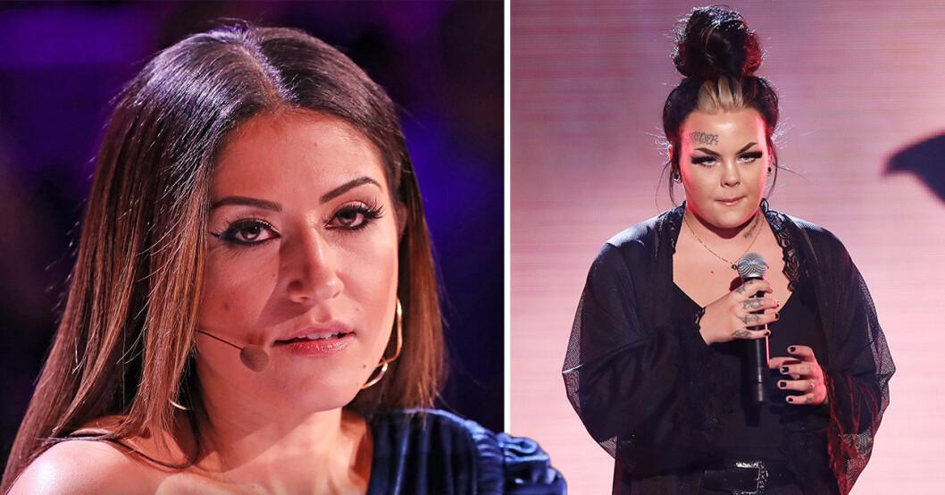 Nikki Amini och Astrid i Idol