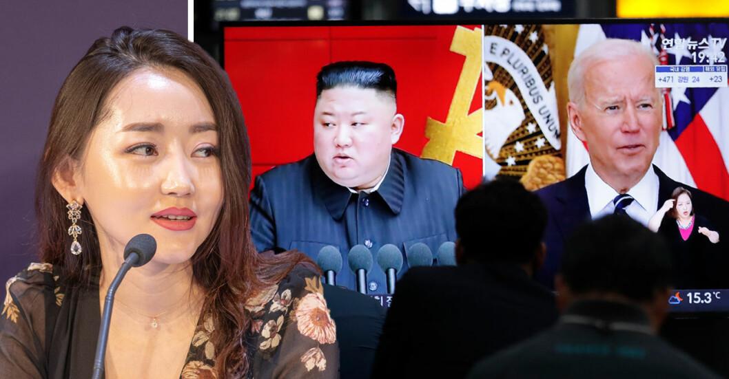 Yeonmi Park, 27, som flytt från Nordkorea tycker yttrandefriheten är begränsad även i USA.