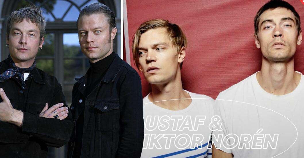 Bröderna Gustaf och Viktor Norén.
