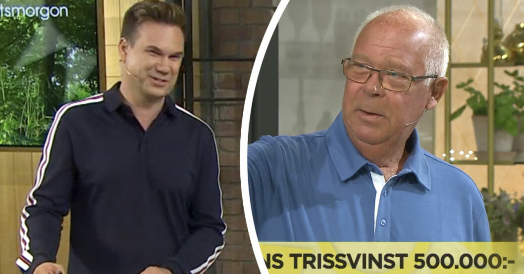 Trisskraparens oväntade ord i Nyhetsmorgon på TV4.