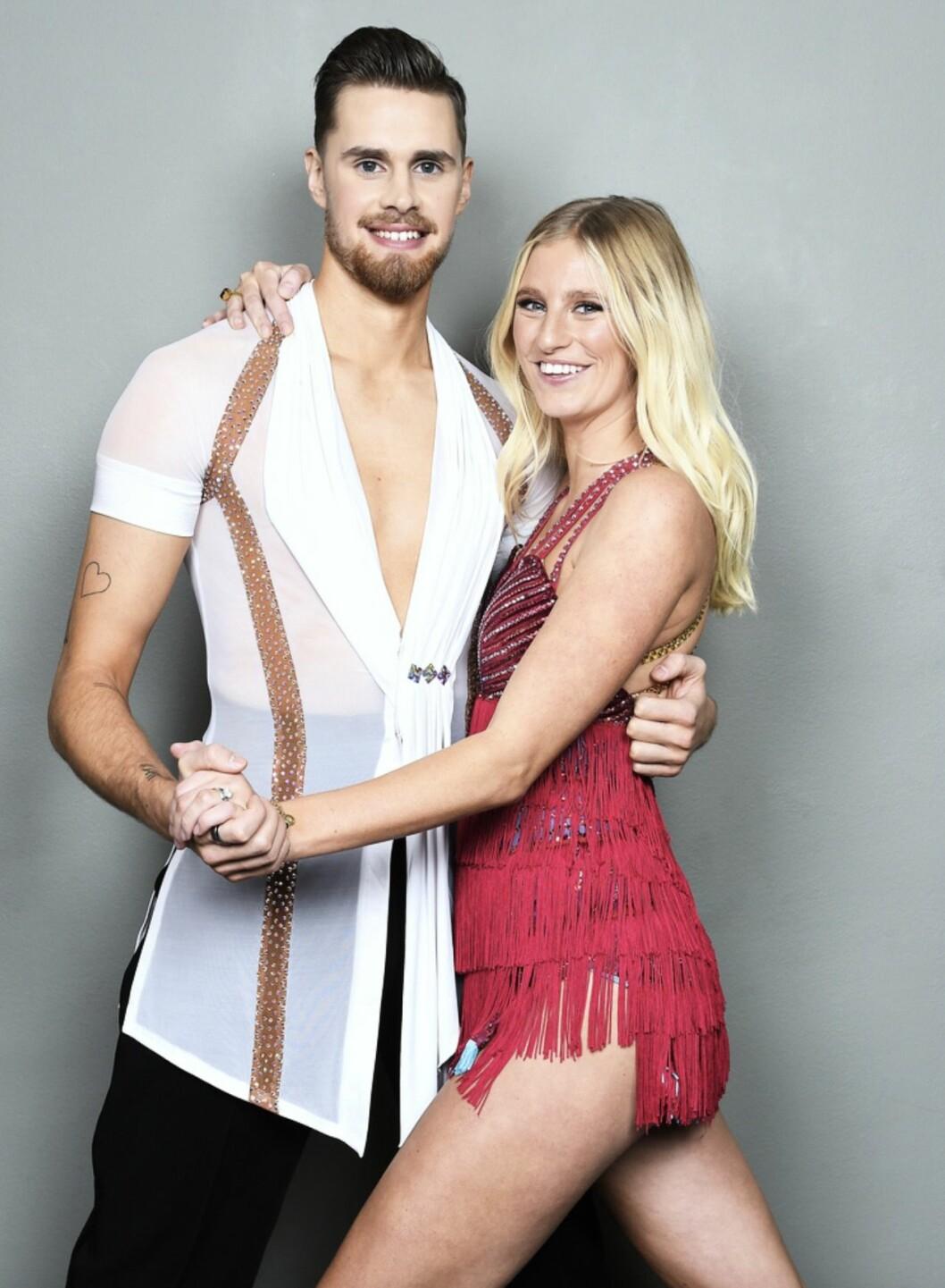 Penny Parnevik tillsammans med danspartnern Jacob Persson